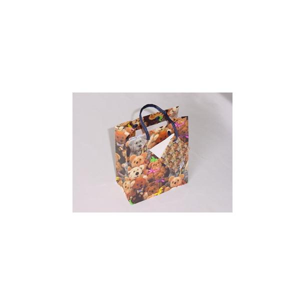 Bamse gavepose med hank og lille kort
