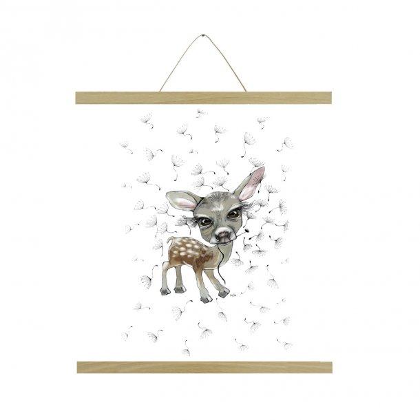 Bambi m/mælkebøtte A3